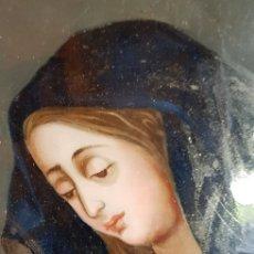 Arte: PINTURA EN CRISTAL DOLOROSA. Lote 175319895