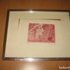 Arte: LITOGRAFIA FIRMADA A LAPIZ DE COLOR. Lote 175328268