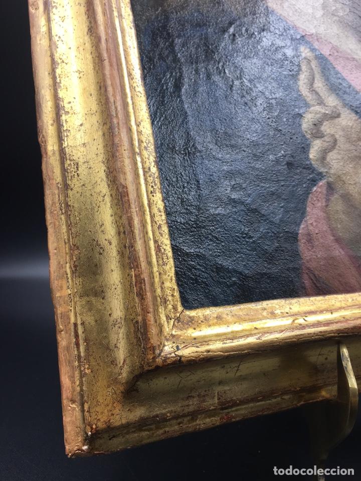 Arte: Salvator mundi. Óleo sobre lienzo. Escuela italiana. Siglo XVII - Foto 7 - 175348517