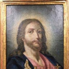Arte: SALVATOR MUNDI. ÓLEO SOBRE LIENZO. ESCUELA ITALIANA. SIGLO XVII. Lote 175348517
