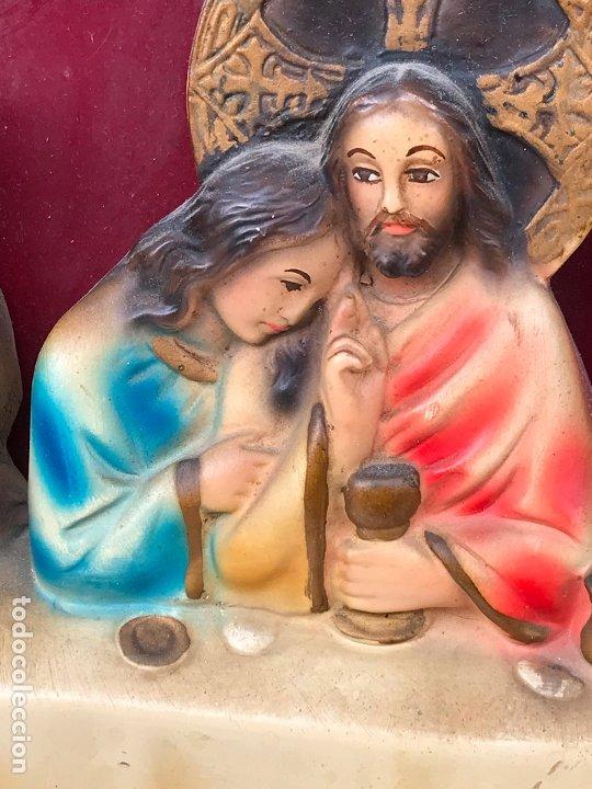 Arte: ANTIGUO RETABLO RELIGIOSO. ULTIMA SANTA CENA. ALTO RELIEVE - Foto 6 - 175412807
