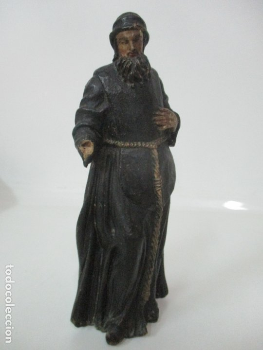Arte: Preciosa Escultura - San Francisco de Paula - Madera Tallada y Policromada - S. XVIII - Foto 9 - 175442055