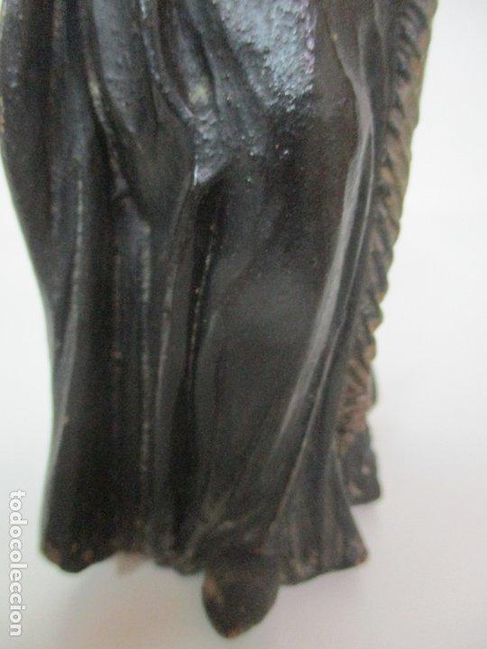 Arte: Preciosa Escultura - San Francisco de Paula - Madera Tallada y Policromada - S. XVIII - Foto 10 - 175442055