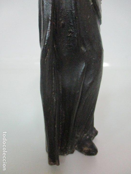 Arte: Preciosa Escultura - San Francisco de Paula - Madera Tallada y Policromada - S. XVIII - Foto 15 - 175442055