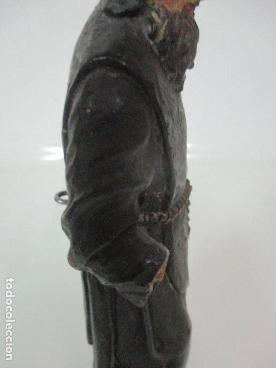 Arte: Preciosa Escultura - San Francisco de Paula - Madera Tallada y Policromada - S. XVIII - Foto 16 - 175442055