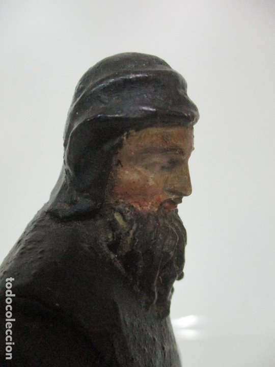 Arte: Preciosa Escultura - San Francisco de Paula - Madera Tallada y Policromada - S. XVIII - Foto 17 - 175442055