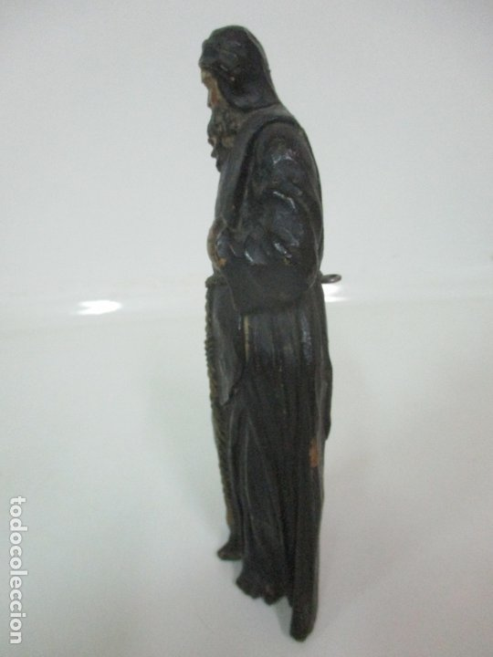 Arte: Preciosa Escultura - San Francisco de Paula - Madera Tallada y Policromada - S. XVIII - Foto 24 - 175442055