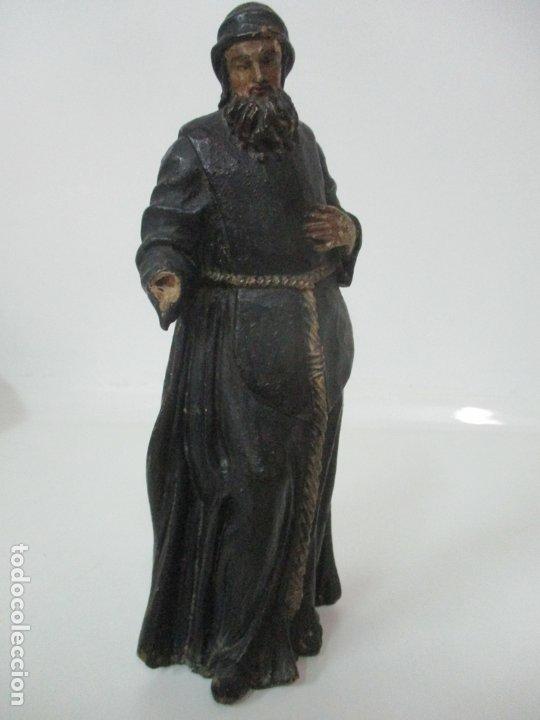 Arte: Preciosa Escultura - San Francisco de Paula - Madera Tallada y Policromada - S. XVIII - Foto 30 - 175442055
