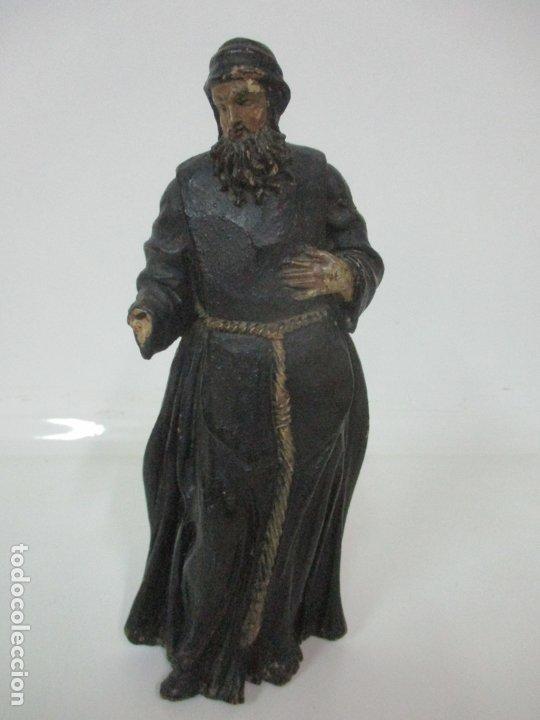 Arte: Preciosa Escultura - San Francisco de Paula - Madera Tallada y Policromada - S. XVIII - Foto 31 - 175442055