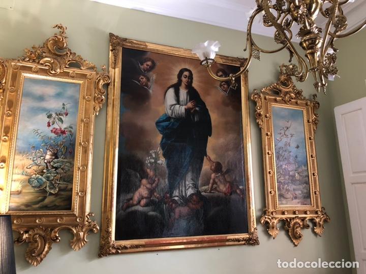Arte: Virgen Inmaculada, óleo, estilo Alonso Cano, siglo XIX. 167 x 128 cm - Foto 4 - 175511562