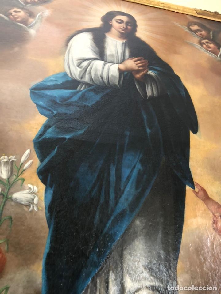 Arte: Virgen Inmaculada, óleo, estilo Alonso Cano, siglo XIX. 167 x 128 cm - Foto 17 - 175511562