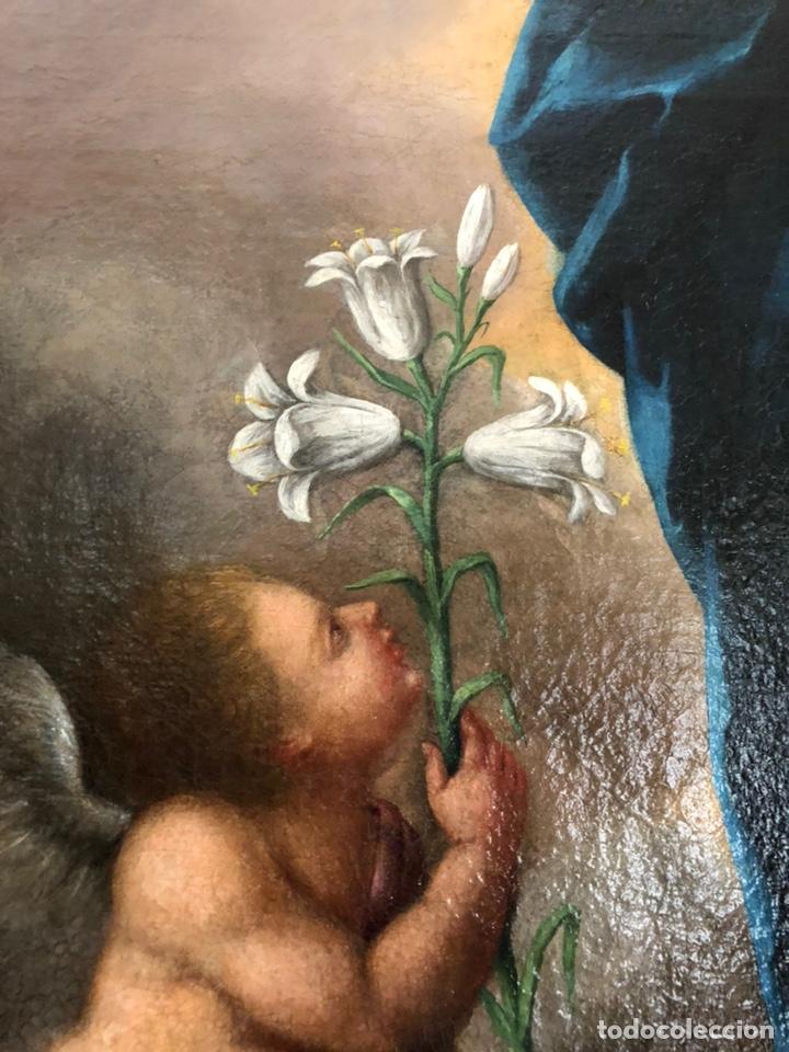 Arte: Virgen Inmaculada, óleo, estilo Alonso Cano, siglo XIX. 167 x 128 cm - Foto 18 - 175511562