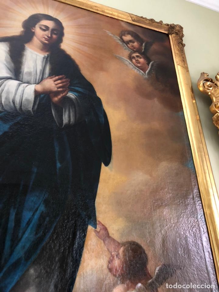 Arte: Virgen Inmaculada, óleo, estilo Alonso Cano, siglo XIX. 167 x 128 cm - Foto 24 - 175511562