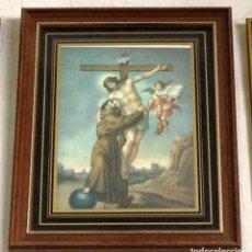 Arte: ANTIGUA Y ENMARCADA LITOGRAFIA DE SAN FRANCISCO DE ASIS. Lote 175564522