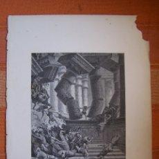Arte: GRABADO ANTIGUO DE GUSTAVE DORÉ, MUERTE DE SANSÓN.. Lote 175592355