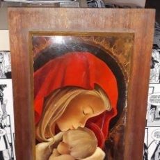 Arte: TABLA CON ESCENA RELIGIOSA SUPERPUESTA EN MADERA DESDE 5 EUROS VER FOTOS DESCRIPCION. Lote 175691269