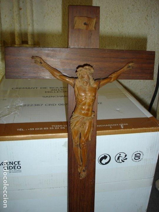 PRECIOSA TALLA EN MADERA DE UN CRISTO PRINCIPIOS SIGLO XIX VER FOTOS (Arte - Arte Religioso - Escultura)