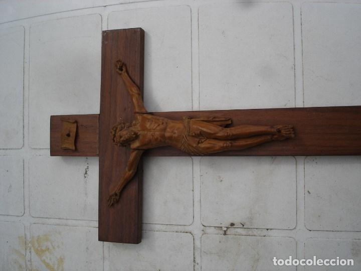 Arte: preciosa talla en madera de un Cristo principios siglo XIX ver fotos - Foto 2 - 175696243