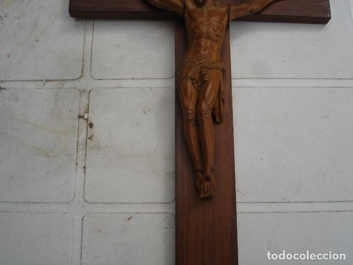 Arte: preciosa talla en madera de un Cristo principios siglo XIX ver fotos - Foto 4 - 175696243