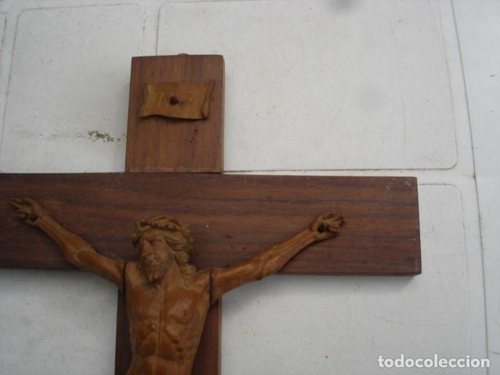 Arte: preciosa talla en madera de un Cristo principios siglo XIX ver fotos - Foto 5 - 175696243
