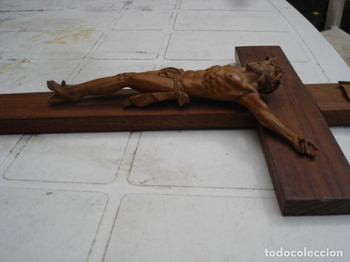 Arte: preciosa talla en madera de un Cristo principios siglo XIX ver fotos - Foto 8 - 175696243