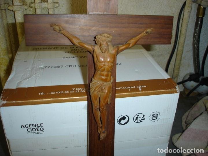 Arte: preciosa talla en madera de un Cristo principios siglo XIX ver fotos - Foto 11 - 175696243