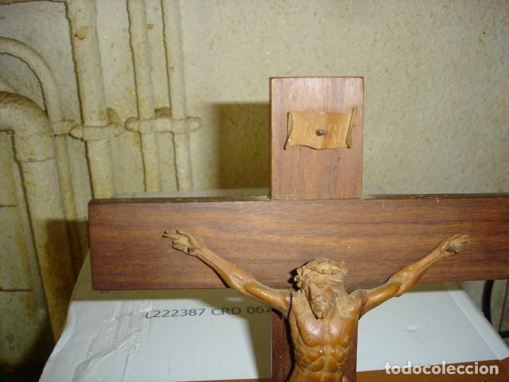 Arte: preciosa talla en madera de un Cristo principios siglo XIX ver fotos - Foto 12 - 175696243