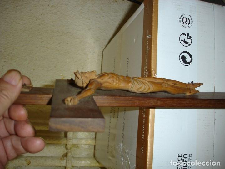 Arte: preciosa talla en madera de un Cristo principios siglo XIX ver fotos - Foto 15 - 175696243