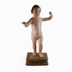 Arte: NIÑO JESÚS - TALLA DE MADERA POLICROMADA - 66 CM - SIGLO XVII-XVIII. Lote 175764165
