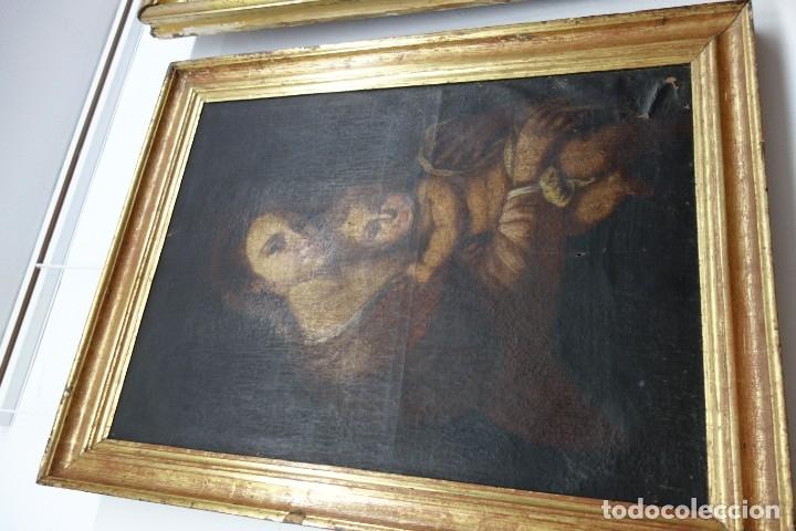 CUADRO DE OLEO SOBRE LIENZO DE PRINCIPIOS DEL SIGLO XIX (Arte - Arte Religioso - Pintura Religiosa - Oleo)