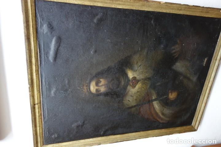 CUADRO RELIGIOSO DE OLEO SOBRE LIENZO DE PRINCIPIOS DE SIGLO XIX (Arte - Arte Religioso - Pintura Religiosa - Oleo)