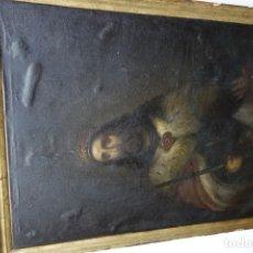 Arte: CUADRO RELIGIOSO DE OLEO SOBRE LIENZO DE PRINCIPIOS DE SIGLO XIX. Lote 175769728