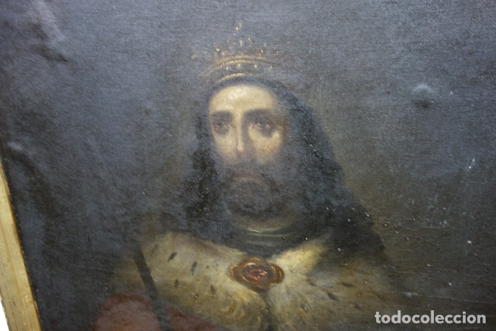 Arte: CUADRO RELIGIOSO DE OLEO SOBRE LIENZO DE PRINCIPIOS DE SIGLO XIX - Foto 3 - 175769728