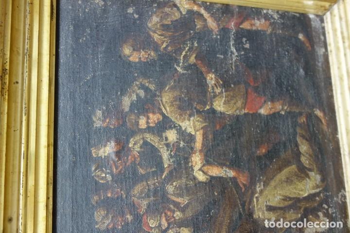 Arte: CUADRO RELIGIOSO DE OLEO SOBRE LIENZO DE PRINCIPIOS DE SIGLO XIX - Foto 7 - 175769955