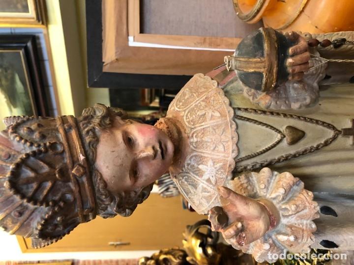 Arte: magnifico niño jesus de praga, terracota antigua. - Foto 2 - 175797668