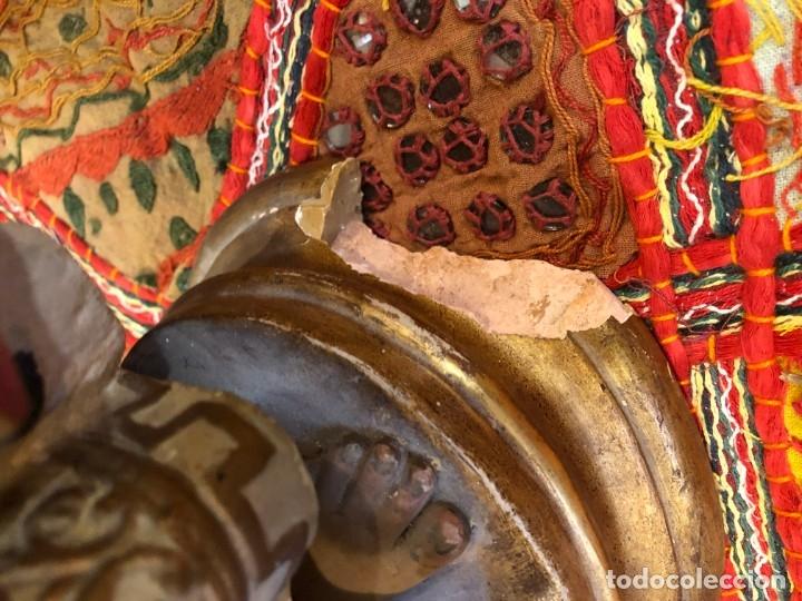 Arte: magnifico niño jesus de praga, terracota antigua. - Foto 5 - 175797668