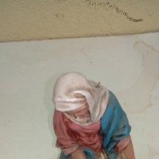 Arte: FIGURA VIRGEN ESTUCO MEDIDAS 20 CM. Lote 175846552