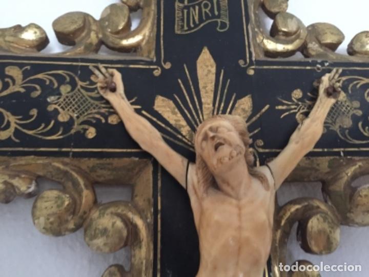 Arte: Crucifijo del siglo XVIII/XIX - Foto 13 - 175852029