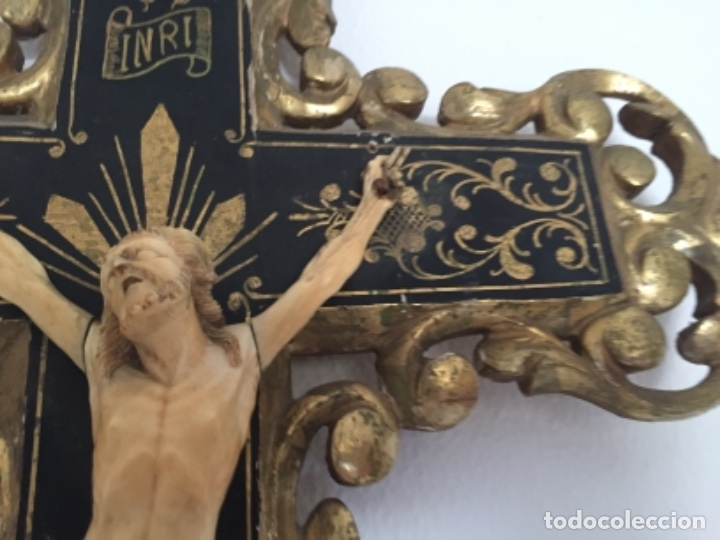 Arte: Crucifijo del siglo XVIII/XIX - Foto 18 - 175852029