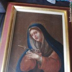 Arte: OLEO VIRGEN LA DOLOROSA DEL PINTOR JUAN VICENTE DE MIRANDA ... SE DATA DEL 1780 APROXIMADAMENTE. Lote 175905722
