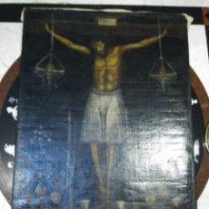 Arte: CRISTO PATRÓN DE CUSCO: SEÑOR DE LOS TEMBLORES. EXTRAORDINARIO LIENZO CUSQUEÑO S.18 - 19. Lote 175878767