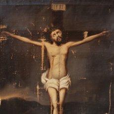 Arte: CRISTO CRUCIFICADO, S. XVII. ÓLEO SOBRE LIENZO.. Lote 175932070