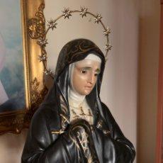 Arte: VIRGEN DE LA SOLEDAD O VIRGEN DOLOROSA 92 CM ALTURA TOTAL.. Lote 184358771