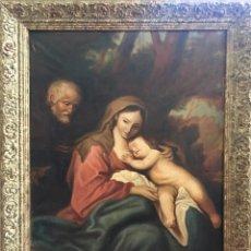 Arte: ÓLEO SOBRE LIENZO. SAGRADA FAMILIA S.XX. Lote 175966342