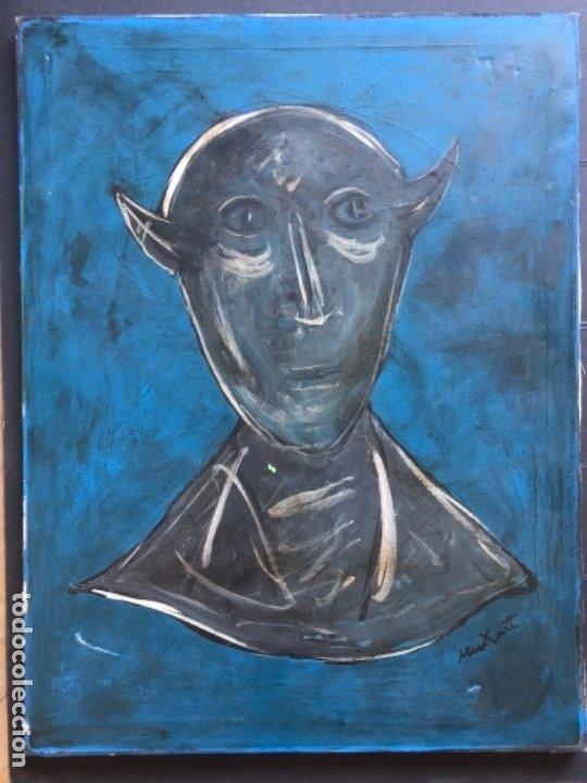 ÓLEO DOBRE TELA FIRMADO MUXART (Arte - Arte Religioso - Pintura Religiosa - Oleo)