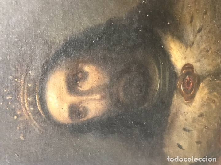 Arte: CUADRO RELIGIOSO DE OLEO SOBRE LIENZO DE PRINCIPIOS DE SIGLO XIX - Foto 6 - 175769728
