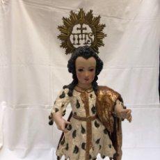 Arte: NIÑO JESÚS, SAN JUANITO, SIGLO XVII, ESCUELA ALONSO DE NENA. Lote 176082685