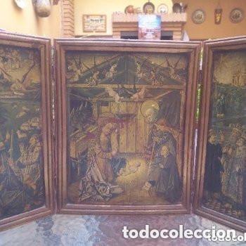 LO MANTENGO A PRECIO DE SALIDA SIETE DÌAS ( NACIMIENTO, REYES MAGOS Y ANUNCIACIÒN ) (Arte - Arte Religioso - Trípticos)