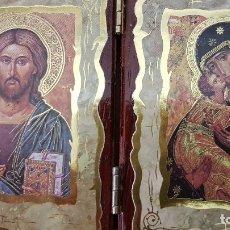 Arte: PEQUEÑO RETABLO DE JESUCRISTO Y LA VÍRGEN. Lote 176124928