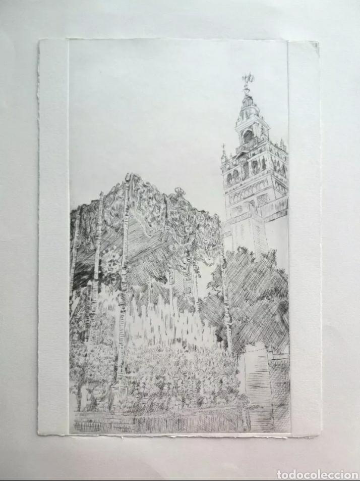 Arte: Lote cinco grabados originales sobre vírgenes - Foto 2 - 176145112